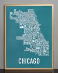 Chicago Map in Bronze Frame
