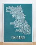 Chicago Map in Silver Frame
