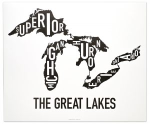 "Great Lakes ""Classic Black & White"" Poster"