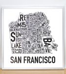 San Francisco Map in Silver Frame