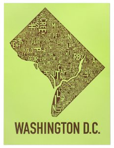 "Washington DC ""Arboretum Green"" Screen Print"