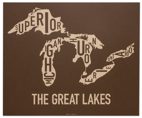 "Great Lakes ""Down Under Brown"" Screen Print"
