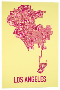 "Los Angeles ""Pretty N' Pink"" Screen Print"