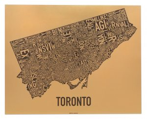 "Toronto ""Golden Horseshoe"" Screen Print"