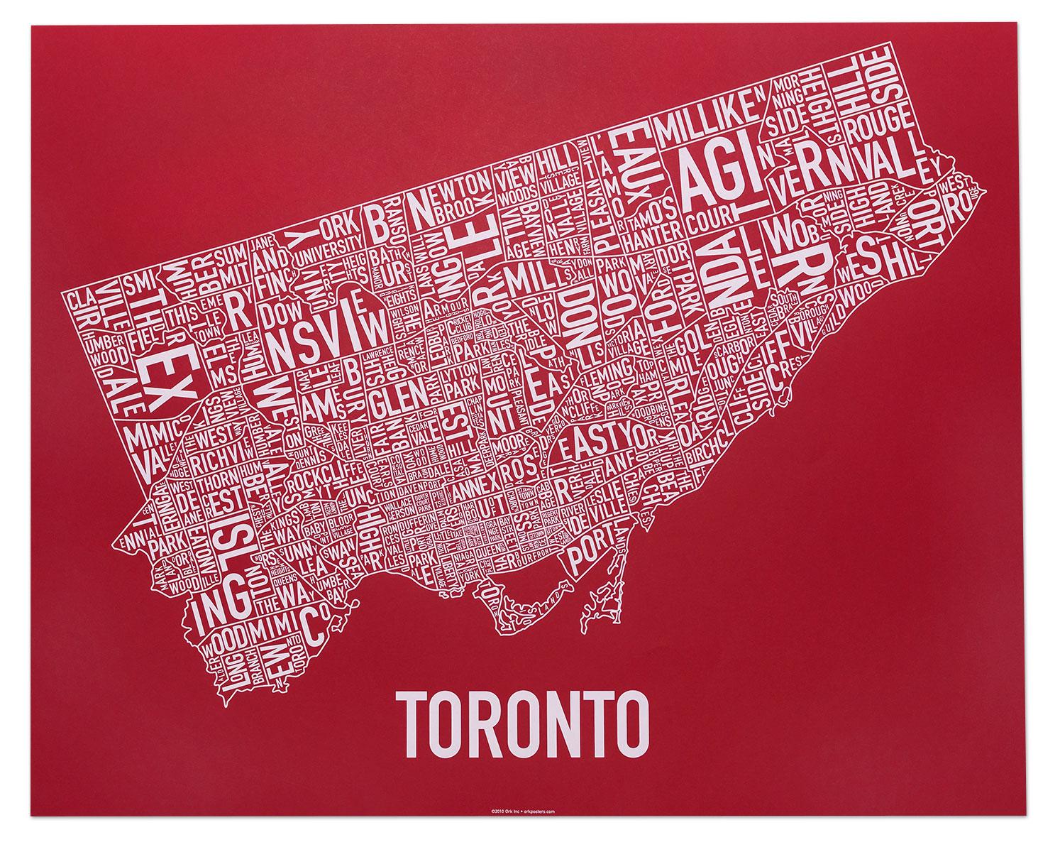 Toronto Neighbourhood Map Artwork 30