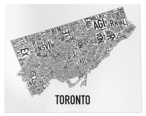 "Toronto ""Classic Black & White"" Poster"