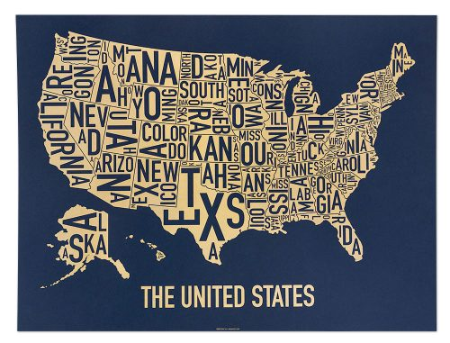 "United States ""Gold Rush"" Screen Print"