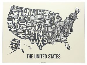 "United States ""Amber Waves of Grey"" Poster"