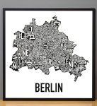Berlin Map in Black Frame