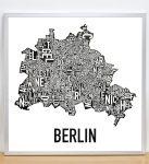 Berlin Map in Silver Frame