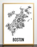 Boston Map in Bronze Frame