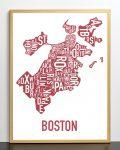 Boston Map in Bronze Frame