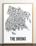 Bronx Map in Bronze Frame