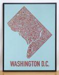 Washington DC Map in Black Frame