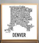 Denver Map in Bronze Frame