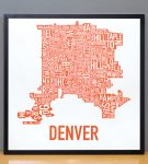 Denver Map in Black Frame