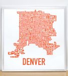Denver Map in Silver Frame