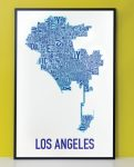 Los Angeles Map in Black Frame