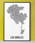 Los Angeles Map in Black Frame