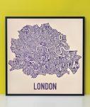 London Map in Black Frame