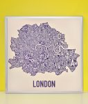 London Map in Silver Frame