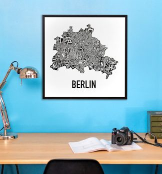 Berlin Neighborhood Map Poster