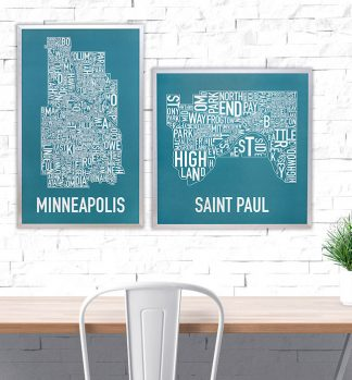 St. Paul Neighborhood Map Poster