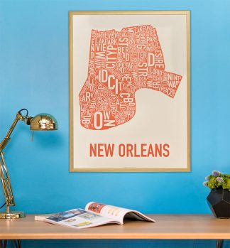 New Orleans Neighborhood Map Poster