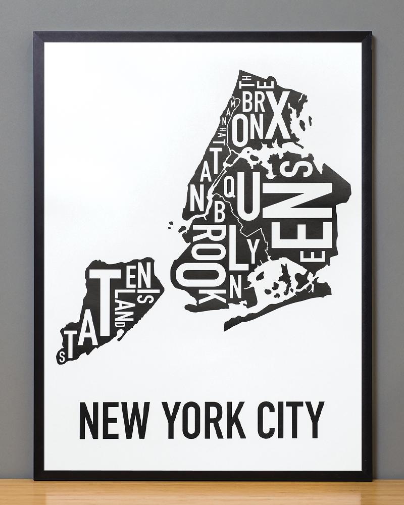 New York City Boroughs Map 18\