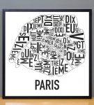Paris Map in Black Frame