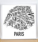 Paris Map in Silver Frame
