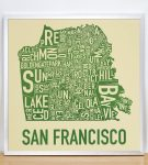 San Francisco Map in Silver Frame