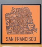 San Francisco Map in Black Frame