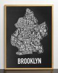 Brooklyn Map in Bronze Frame