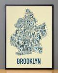 Brooklyn Map in Black Frame