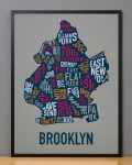 Brooklyn Map in Black Frame