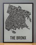 Bronx Map in Black Frame
