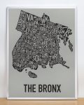 Bronx Map in Silver Frame