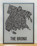 Bronx Map in Grey Frame
