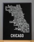 Chicago Map in Black Frame