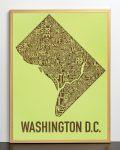 Washington DC Map in Bronze Frame