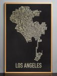 Los Angeles Map in Bronze Frame