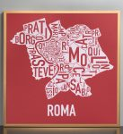 Rome Map in Bronze Frame