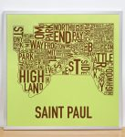 Saint Paul Map in Silver Frame