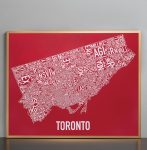 Toronto Map in Bronze Frame