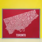 Toronto Map in Grey Frame