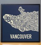 Vancouver Map in Black Frame