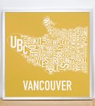 Vancouver Map in Silver Frame