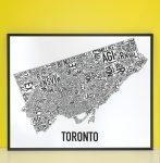 Toronto Map in Black Frame