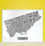 Toronto Map in Silver Frame